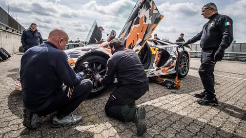 The Lamborghini Aventador SVJ lapped the 'Ring in 6 minutes, 44 seconds.