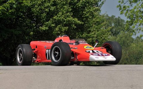 Graham Hill drove this Lotus, one of four turbine-powered, four-wheel drive equipped examples, in the 1968 Indianapolis 500