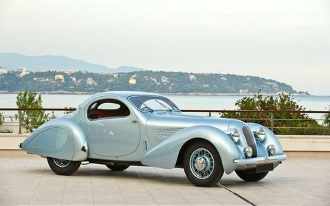 RM Auctions estimates that this recently restored 1938 Talbot-Lago T23 Teardrop Coupe will sell for $2,500,000-$3,200,000