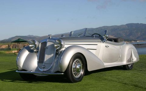 """Around 120 cars are set to cross the auction block, including this Pebble Beach """"Best of Show""""-winning 1938 Horch 853A Erdmann & Rossi Sport Cabriolet"""
