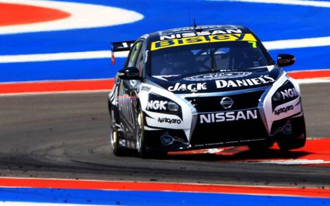 The Australian V8 Supercars race in Texas on Saturday and Sunday.