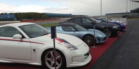 Some of the cars included in GT6 showing their wares.