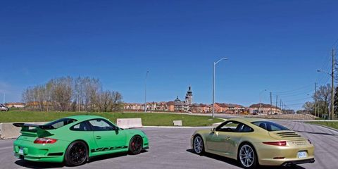 My weekend cars are a 3.6 and a 3.8 997 RS, which have often been cited as handling benchmarks and close to the final development of the 997 platform.