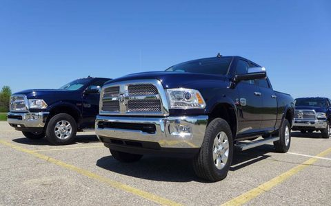 Styling updates to the 2013 Ram 2500 and 3500 Heavy Duty pickups are pretty minimal; the trucks get four different grilles and LED-enhanced headlight clusters.