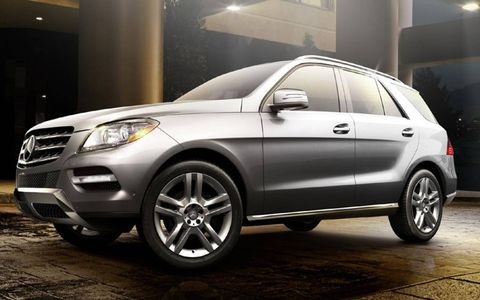 The 2013 Mercedes-Benz ML550 4Matic is equipped with a 4.6-liter twin-turbocharged V8.