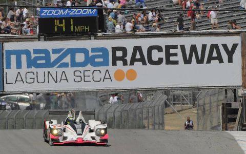 2012 ALMS Laguna Seca: #6 Muscle Milk Pickett Racing HPD ARX-03a