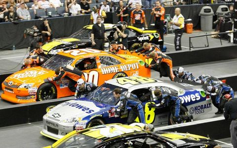 Action from the NASCAR Sprint Pit Crew Challenge at Charlotte, N. C.
