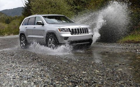 This is new Jeep is comfortable in the drink.