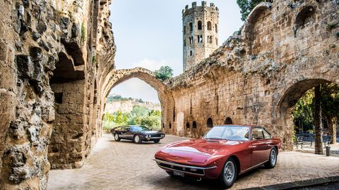 To celebrate 50 years of the Lamborghini Islero and Espada -- both of which were introduced in 1968 -- 20 of the cars gathered for a 500-mile tour of Italy. These pictures show the cars as they were meant to be enjoyed: on the road.