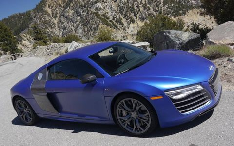 With a little shade the $6000 Sepang Blue matte effect paint looks much darker.