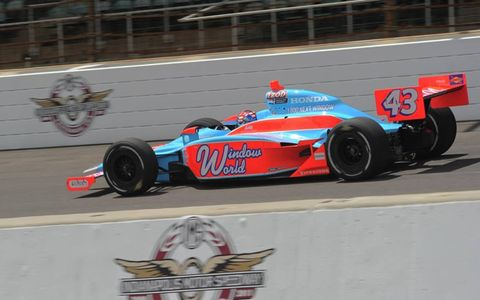 John Andretti cruises around Indy during practice. Photo by: Dan R. Boyd LAT Photo