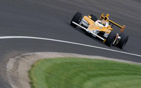 Ryan Hunter-Reay during practice for the Indy 500.