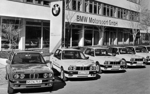 The BMW Motorsports GmbH building circa 1990.