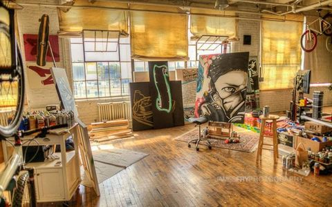 The artist's live/work studio. Photo by James Fry.