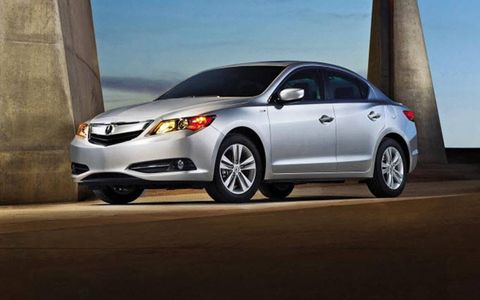 The front of the 2013 Acura ILX.