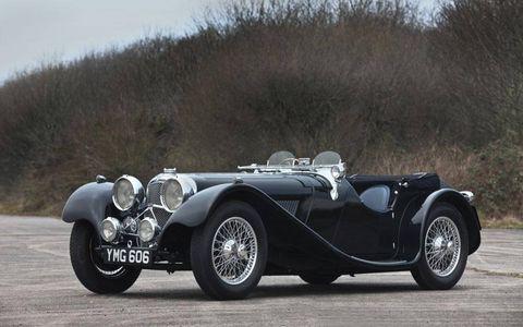 A 1937 SS Jaguar 100 2.5-liter roadster for old-school British motoring.