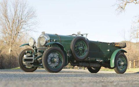 Another British offering, the 1929 Bentley 4.5-liter Open Tourer by Vanden Plas.