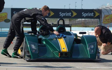 At $135,000, the SP/300.R comes with the engine and everything else required for track duty, not to mention a tour of Dyson Racing's 30,000-square-foot shop in Poughkeepsie, N.Y., and an orientation day at nearby Monticello Motor Club.