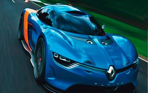 The Alpine 110-50 concept image leaked ahead of its public debut at the Monaco Grand Prix.