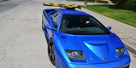 Monterey Blue Lamborghini GT-R