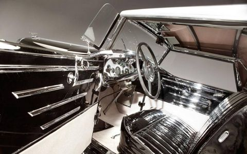 1931 Duesenberg Whittell Coupe, a Model J by Murphy, interior.