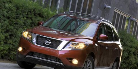 The base 2013 Nissan Pathfinder SL starts off in the $36,895 with our tester topping off at $40,470.