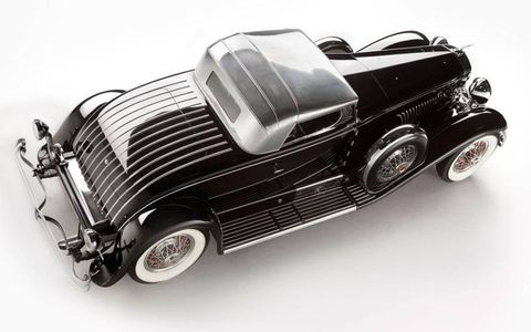 1931 Duesenberg Whittell Coupe, a Model J by Murphy, top view.