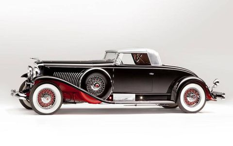 1931 Duesenberg Whittell Coupe, a Model J by Murphy, side view.