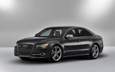 The 2013 Audi A8 L 4.0T comes in with a base price of $88,095, with our tester topping off at $98,145.