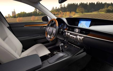 A lengthened wheelbase provides the 2013 ES300h with a roomier interior than  its predecessors