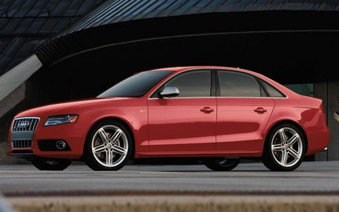 A side view of the 2012 Audi S4.