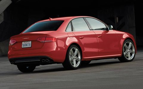 A rear view of the 2012 Audi S4.