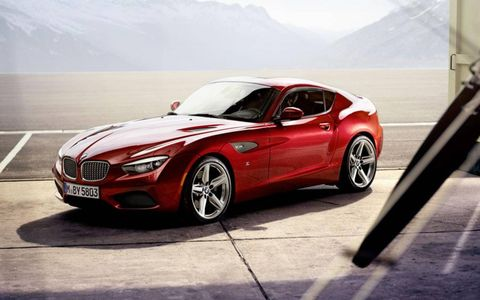 The coupe features elegant, sporty styling that blends traditional elements from both BMW and Zagato