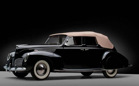 "This 1939 Lincoln Zephyr convertible is offered for sale in ""as new"" condition"