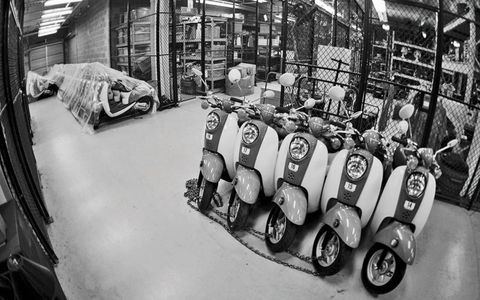 The scooter fleet accounts for 36 of the 300 vehicles used to operate and maintain the facility.