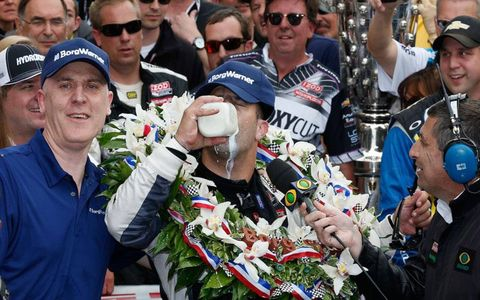 Tony Kanaan finally tasted the milk in victory lane at the Indianapolis Motor Speedway.