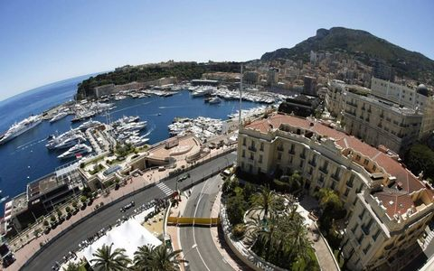 An aerial view of the circuit in Monaco.