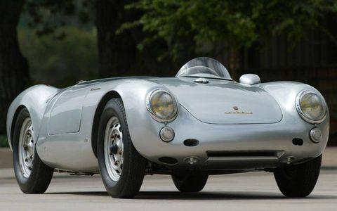"""The 550, known alternately as the """"Little Bastard"""" for killing James Dean, and the """"Giant Killer"""" for destroying the competition on the racetrack, sold for only $6,800 new. Today that number is around $1 million, but replicas can be had for a tenth of that. A road trip with the 550 would take you to Park Cemetery in Fairmount, Ind., the final resting place of the Rebel Without a Cause."""