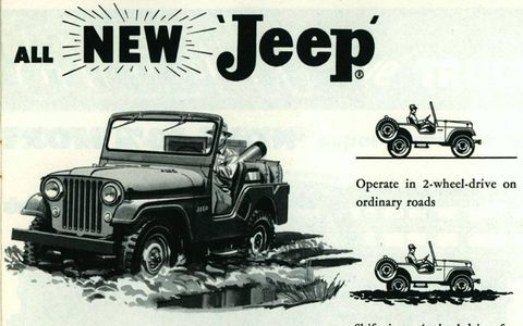 The mighty Jeep CJ-5 will seem familiar to today's enthusiasts, even if it's a good deal smaller than the Wrangler JK.