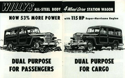 When you think about it, passenger versions of the Willys Wagon were some of the first modern sport utility vehicles.