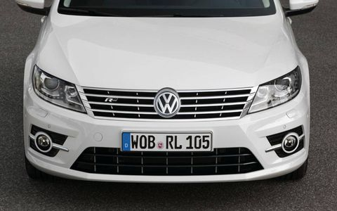 The new more aggressive front-end of the 2012 Volkswagen CC R-Line.