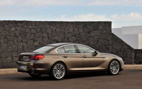 The Gran Coupe has a wheelbase four and a half inches longer than the 6-series coupe