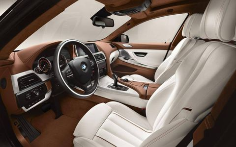 An interior view of the 640i Gran Coupe