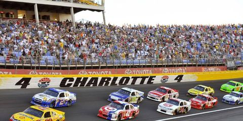2012 NASCAR Charlotte: AJ Allmendinger and Brad Keselowski