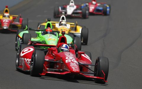 2012 Indy 500: Dario Franchitti James Hinchcliffe, Ryan Hunter-Reay, Sebastian Saavedra and Ryan Briscoe.