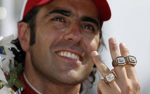 RING JOB // Three-time Indianapolis winner Dario Franchitti shows off his Indy 500 rings.
