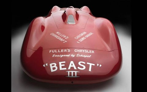 "The ""Beast III"" Streamliner was the first to have its body designed in a wind tunnel."