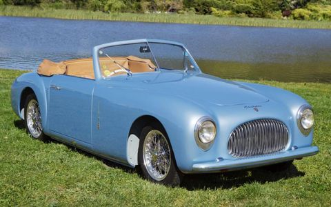 """The 1947 Cisitalia 202 Cabriolet from San Francisco's Academy of Art collection won Best of Show """"Concours de Sport"""" honors."""