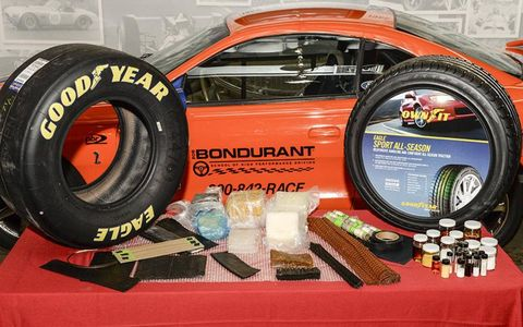 Over 60 raw materials go into a NASCAR radial...and every track's tire is different.