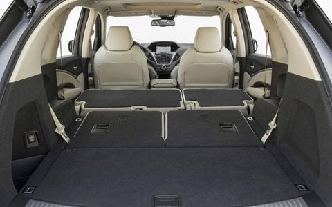 The interior of the MDX has a maximum cargo area of 15.8 cubic feet